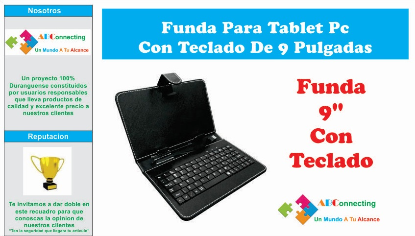 Funda para tablet pc con teclado de 9 pulgadas en mercado libre - Fundas de tablet de 9 pulgadas ...